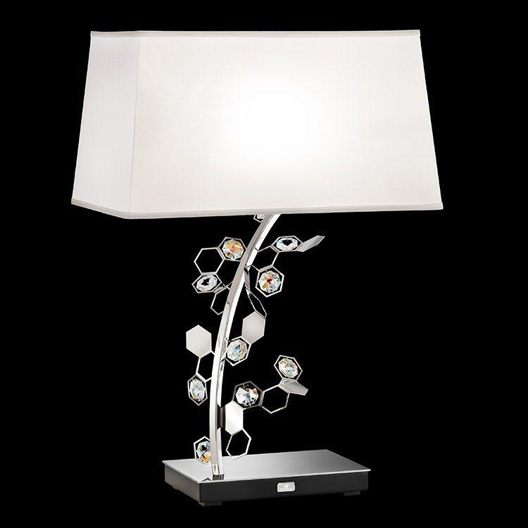 Swarovski Scy570n Ss1s Crystalon Lamp Two Light Table Lamp With