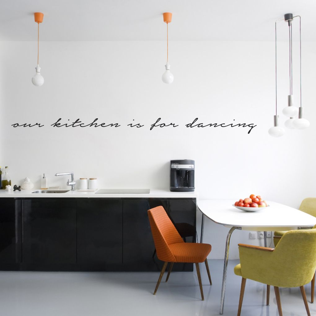 Kitchen wall decals our kitchen is for dancing wall decals