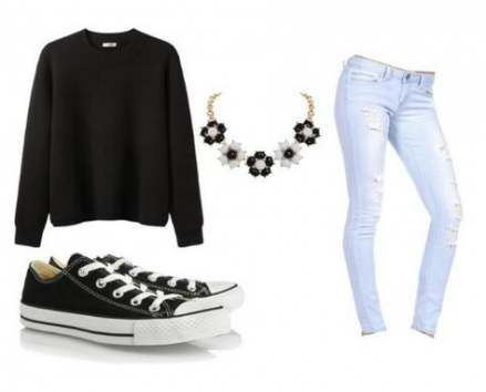 40 trendy ideas for how to wear black converse summer