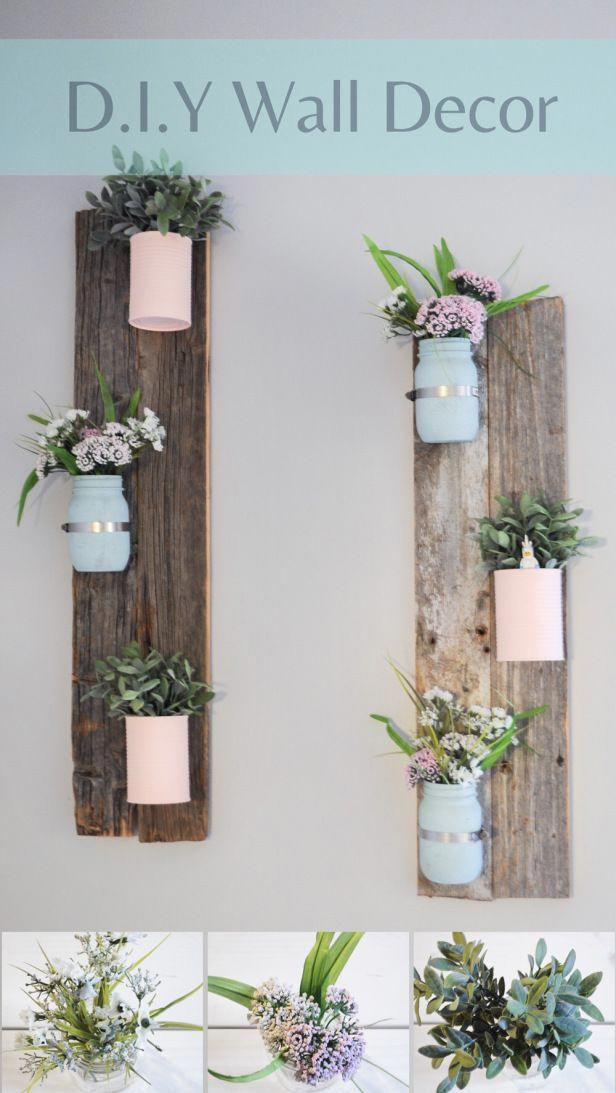 DIY Pallet wall decoration. Very easy DIY project to do with pretty flowers, mas… Balkon