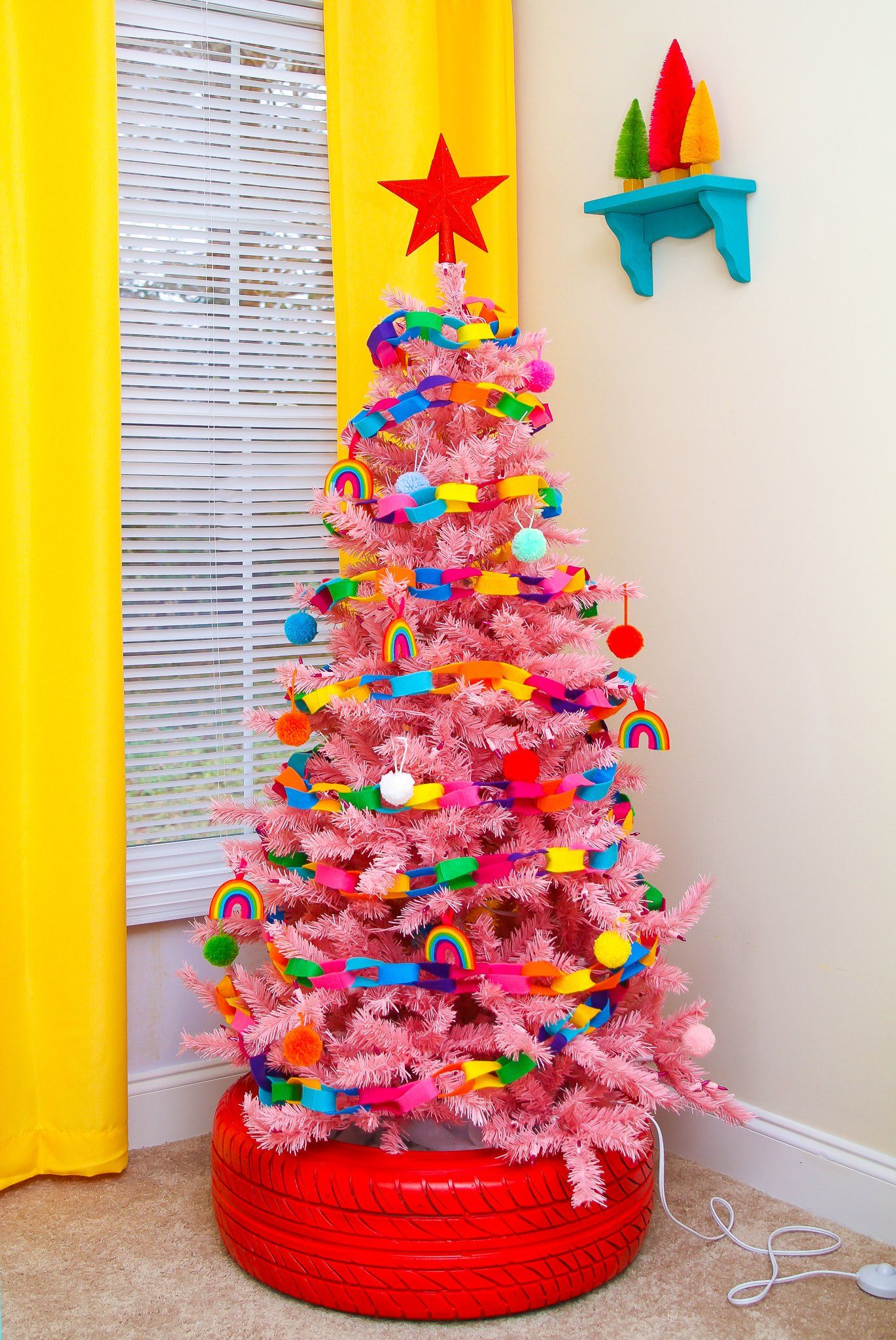 Bright Colorful Christmas Trees Ideas To Make Them Lively Rainbow Christmas Tree Colorful Christmas Tree Rainbows Christmas