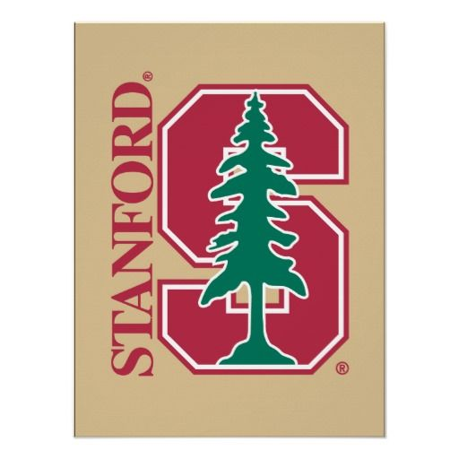 """Stanford Cardinal Block """"S"""" & Tree Posters #tree #standford #cardinal #posters"""