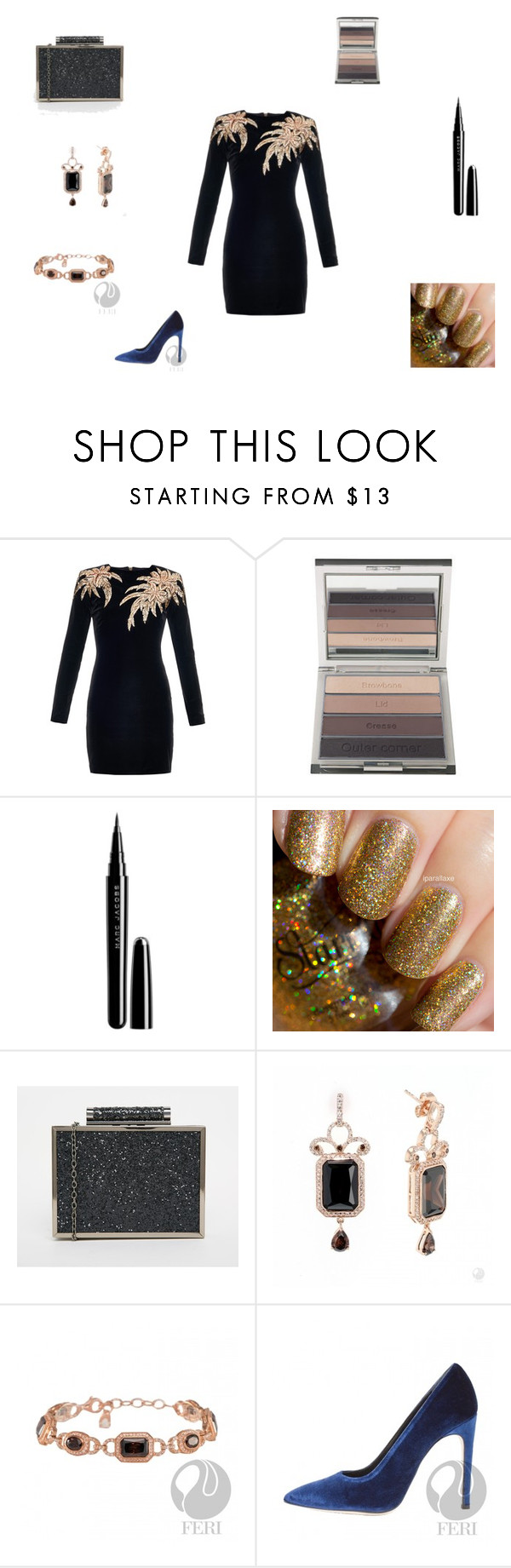 """""""Untitled #395"""" by panicsam ❤ liked on Polyvore featuring Balmain, CARGO, Marc Jacobs and BeckSöndergaard"""
