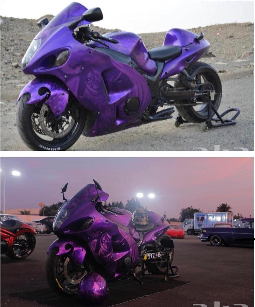 Hayabusa Owners Gcc On Instagram للبيع هايبوزا موديل 2004 معدل في الشكل الخارجي التعديلات ١ لون موف بنوع هاوس اوف كلر مع رسم بالاي Vehicles Motorcycle