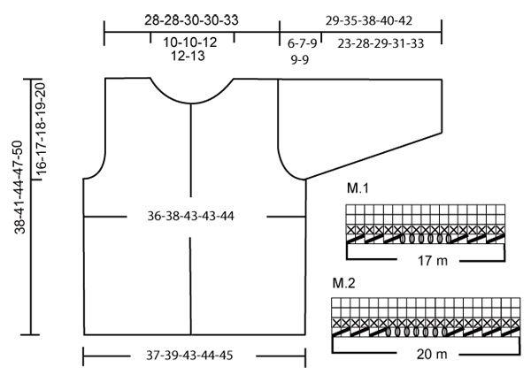Chaqueta DROPS en Alpaca con mangas ¾, patrón de grecas y botones a ganchillo.   Patrón gratuito de DROPS Design.