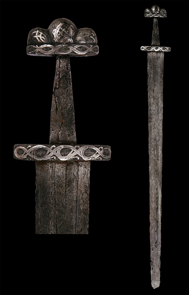 Viking Sword, 9th/10th century Denmark. Located at Reichsstadtmuseum Rothenburg, Germany.