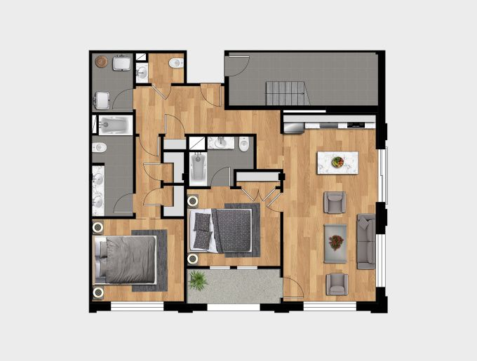 Lehuy Design I Will Creat 2d And 3d Floorplan Floor For You For 15 On Fiverr Com Floor Plans Interior Architecture Design Design