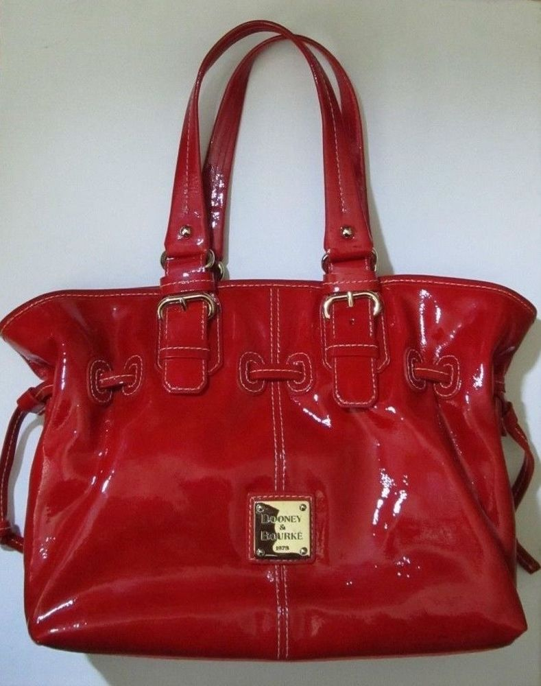 Gorgeous Red Patent Leather Chiara Dooney Bourke Tote Handbag Ph863 Dooneybourke Totespers