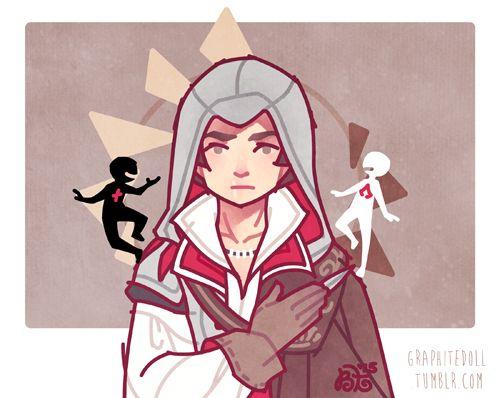 Ezio assassins creed art by Graphite Doll on Tumblr