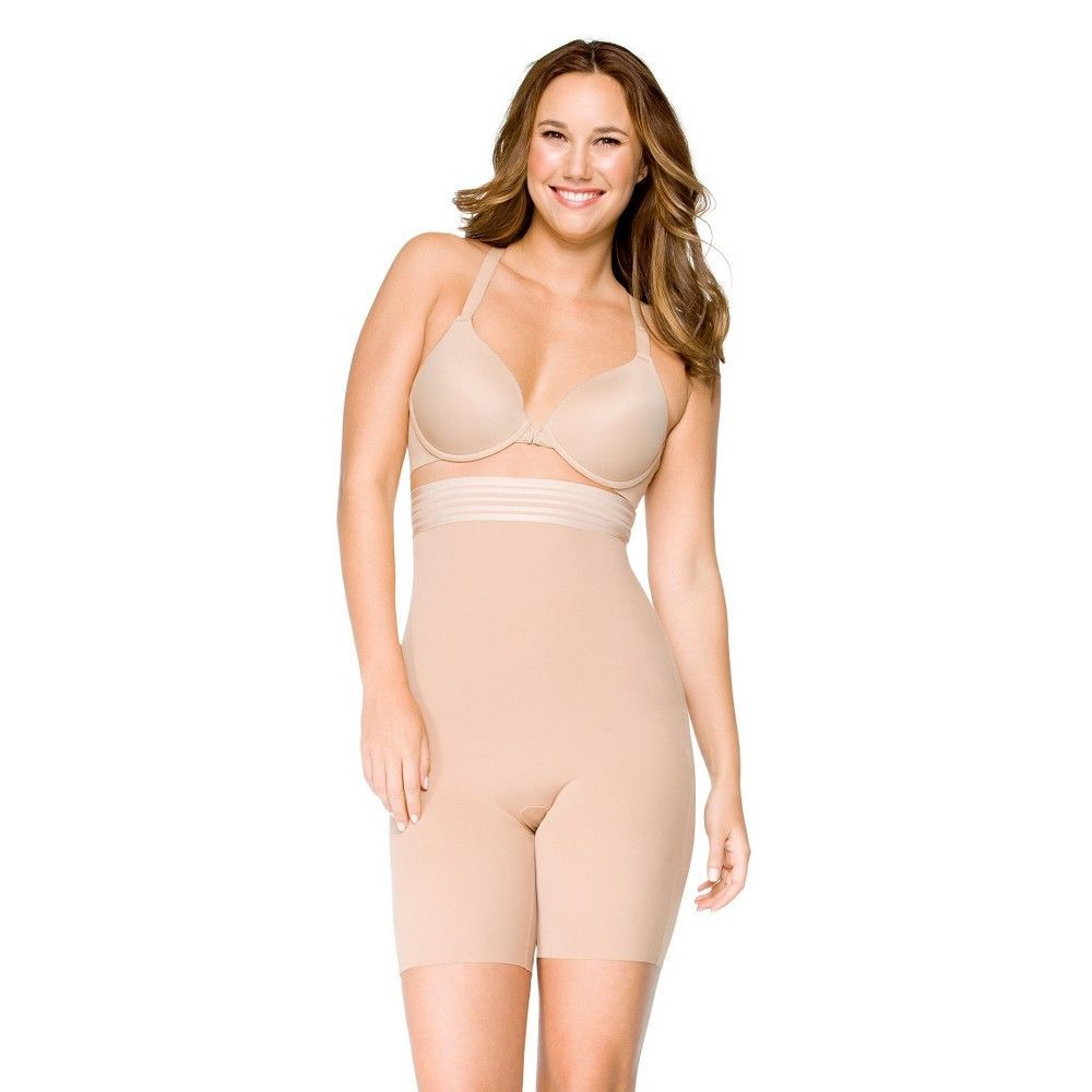 7008a7e51d Assets by Sara Blakely a Spanx Brand Women s Supreme Slimmers High Waist Mid -Thigh 2541