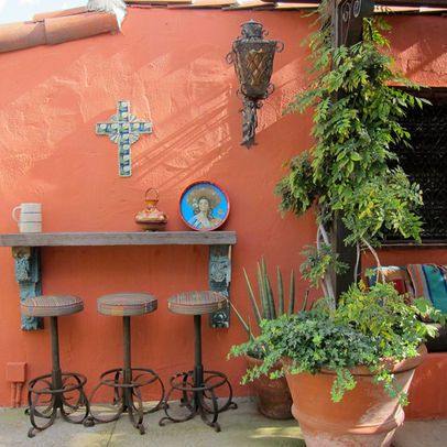 Mexican Courtyards Design Ideas, Pictures, Remodel, and ... on Mexican Backyard Decor  id=27471