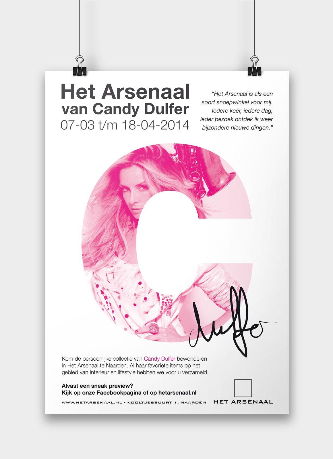 Poster Candy Dulfer Het Arsenaal Naarden Minimal Poster Affiche Typo Event Evenement White Black Pink Can Ontwerpbureau Grafisch Ontwerp Grafisch