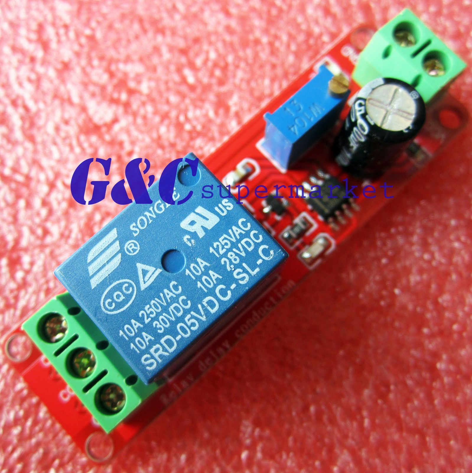 2PCS DC 5V Delay relay shield NE555 Timer Switch Adjustable Module 0~10S
