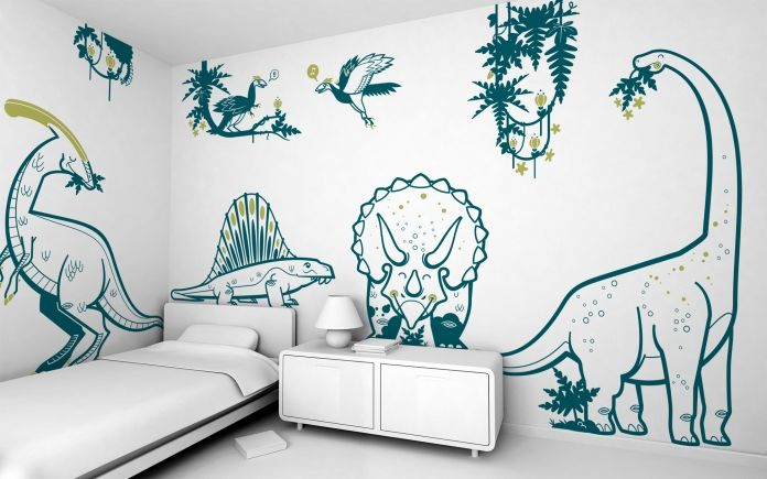 Marvelous Boys Room Dinosaur Wall Stickers   Jurassic World