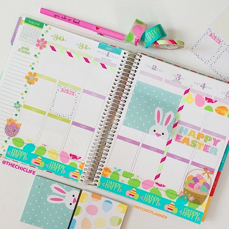 Planner Decoration Ideas: April 2015 (Erin Condren