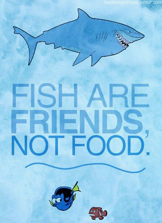 Fish are friends not food wonderful board of disney for Fish are friends not food