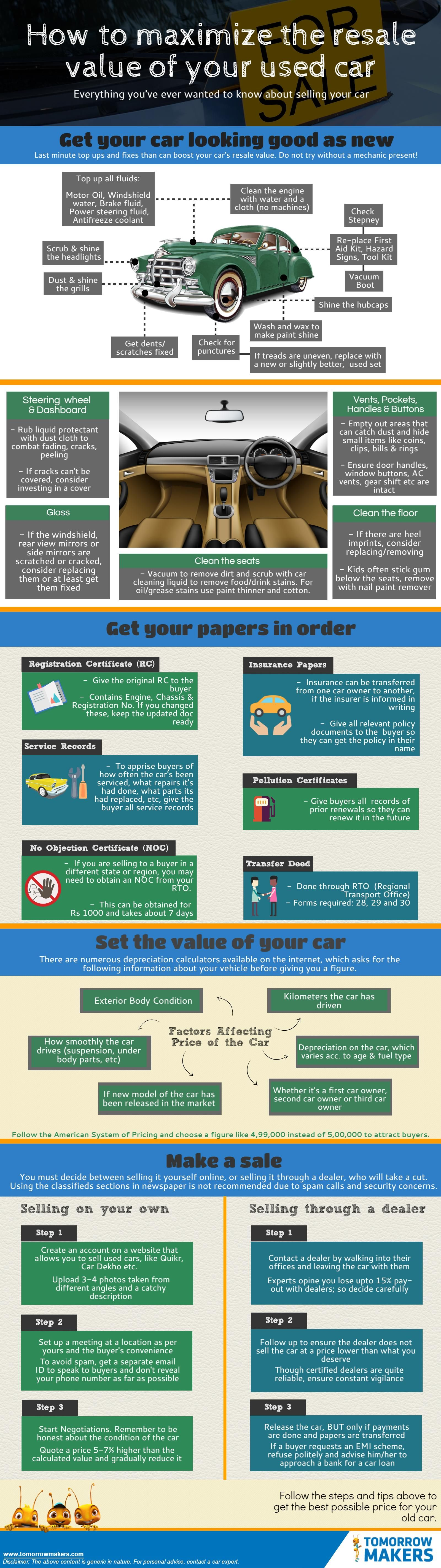 How To Maximize The Resale Value Of Your Used Car Infographic