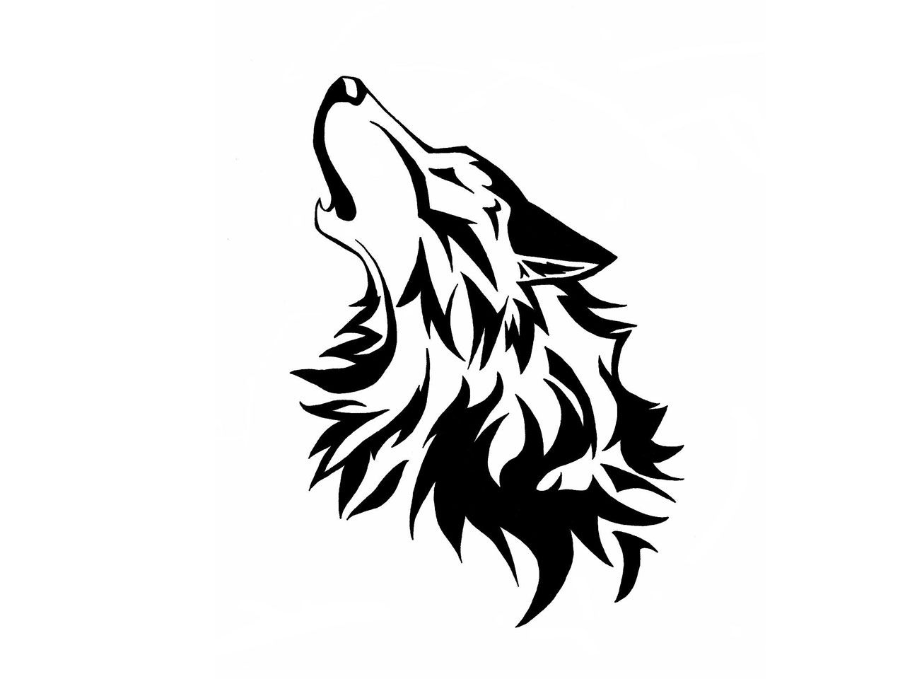 Wolf Line Drawing Tattoo : Wolf is howling drawing wallpaper drawings pinterest