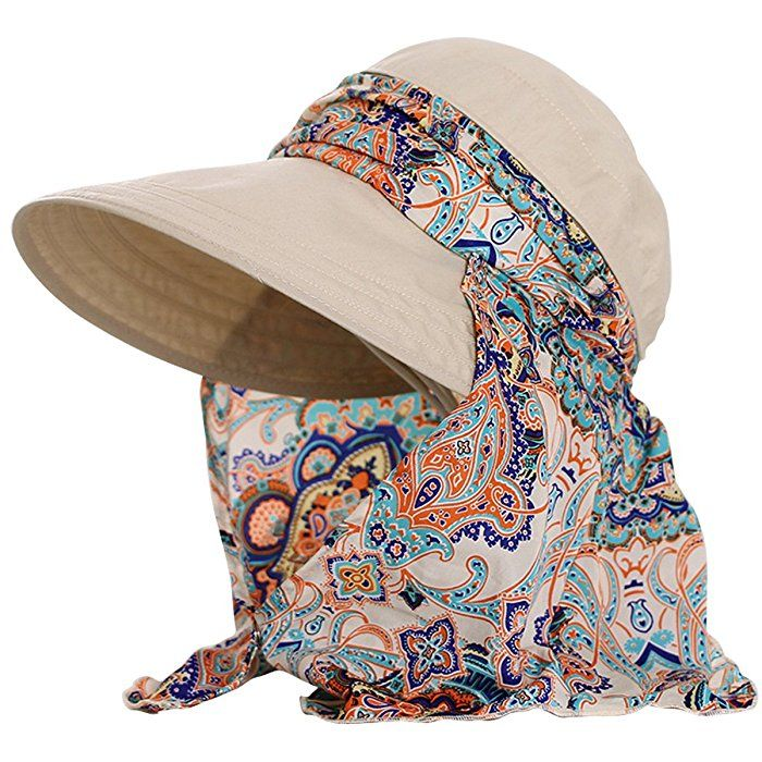 Lanzom Women Lady Wide Brim Cap Visor Hats UV Protection Summer Sun Hats  (Beige) at Amazon Women s Clothing store  5a1d0e836cea