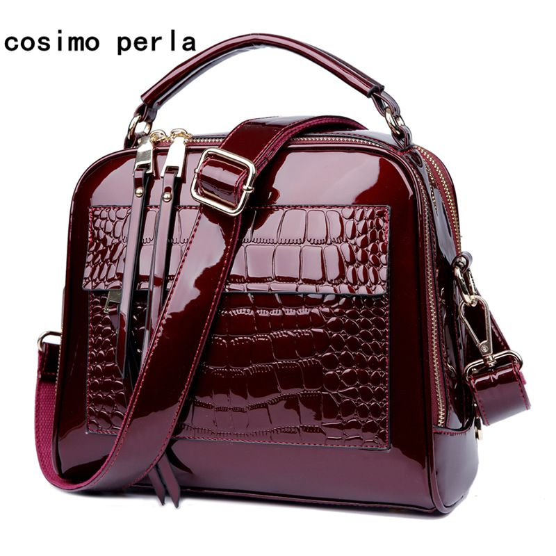 f98359b9b66 very stylish patent leather handbags for winter