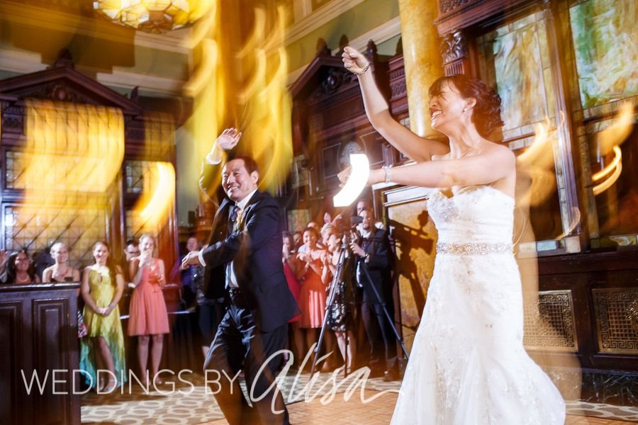 Bride Dancing With Her Father At Downtown Pittsburgh Wedding