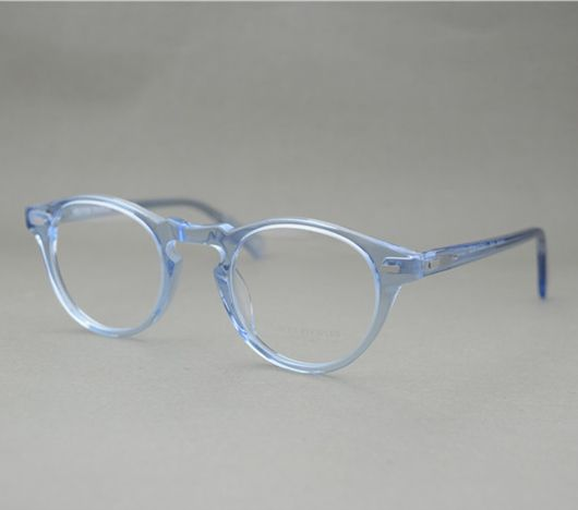 8d9145665e1 Famous Brand Oliver Peoples Eyeglasses Gregory Peck OV 5186 Oval Vintage  Myopia Glasses Frame Men and Women Retro Eye glasses