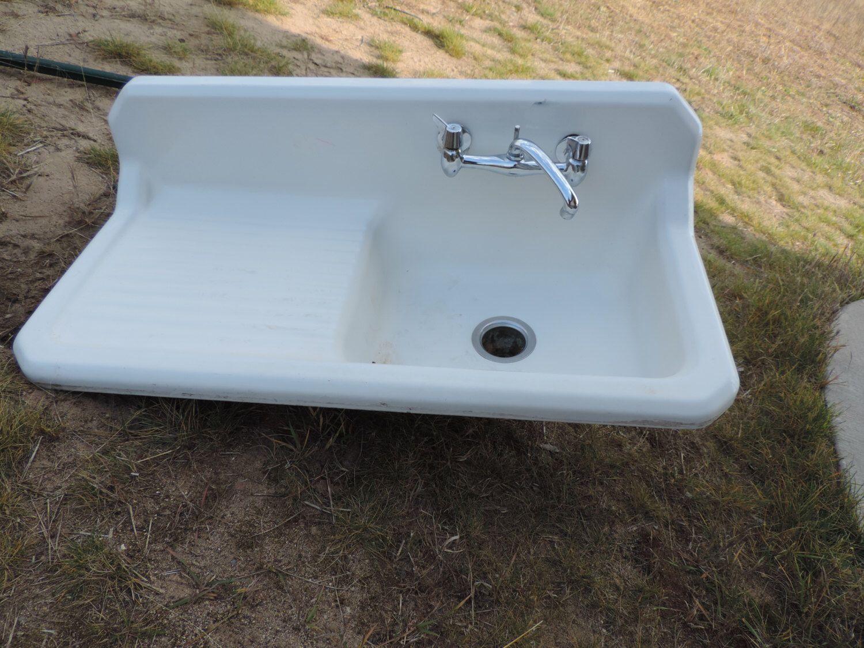 Farm Sink Cast Sink Vintage Farm Sink Original Farm sink Enameled ...