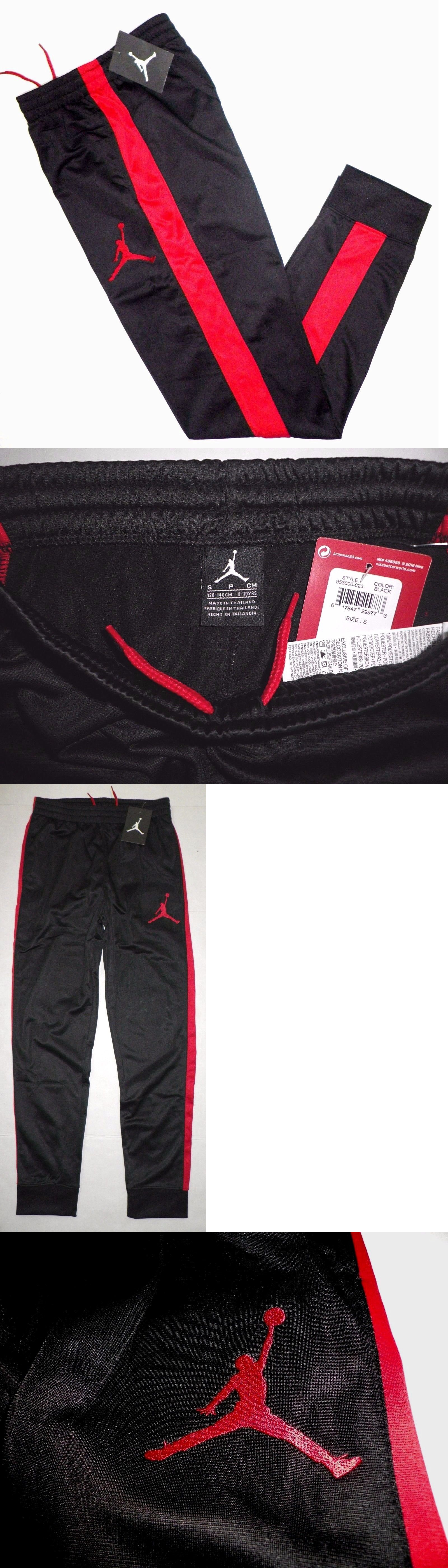 f9aef29468e ... canada pants 51920 nike air jordan boys jumpman athletic jogger sweat  pants black red y s 8 ...
