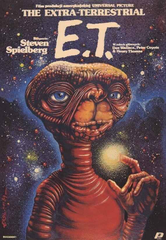 Polish Movie Poster E.T. the Extra-Terrestrial Steven Spielberg Limited Edition Jakub Erol artwork 1984/2017