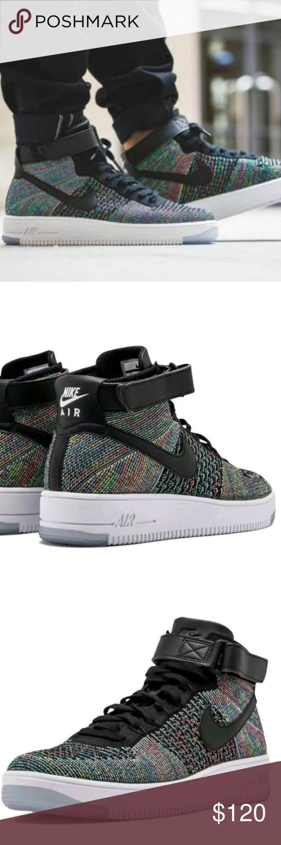 low priced f1602 457ff NEW - NIKE Air Force 1 Ultra Flyknit Mid NEW - NIKE Air Force 1 Ultra  Flyknit Mid - Multi-color 2.0- 817420 601 - Sz 11.5 Nike Shoes Athletic  Shoes