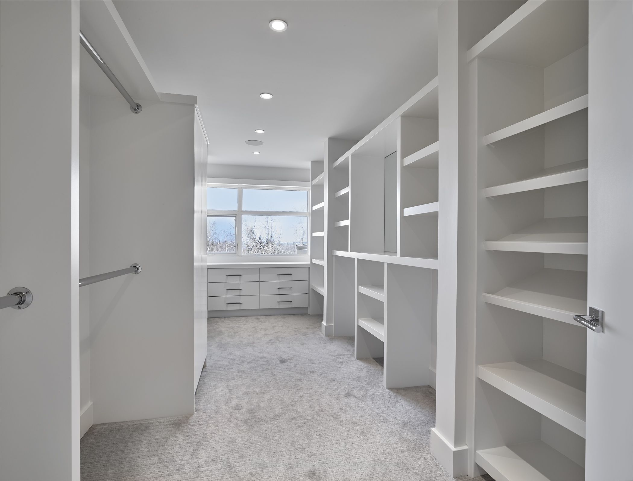 Large Walk In Closet With Window For Natural Light Built By Birkholz Homes Closet Designs Home Walk In Closet Design