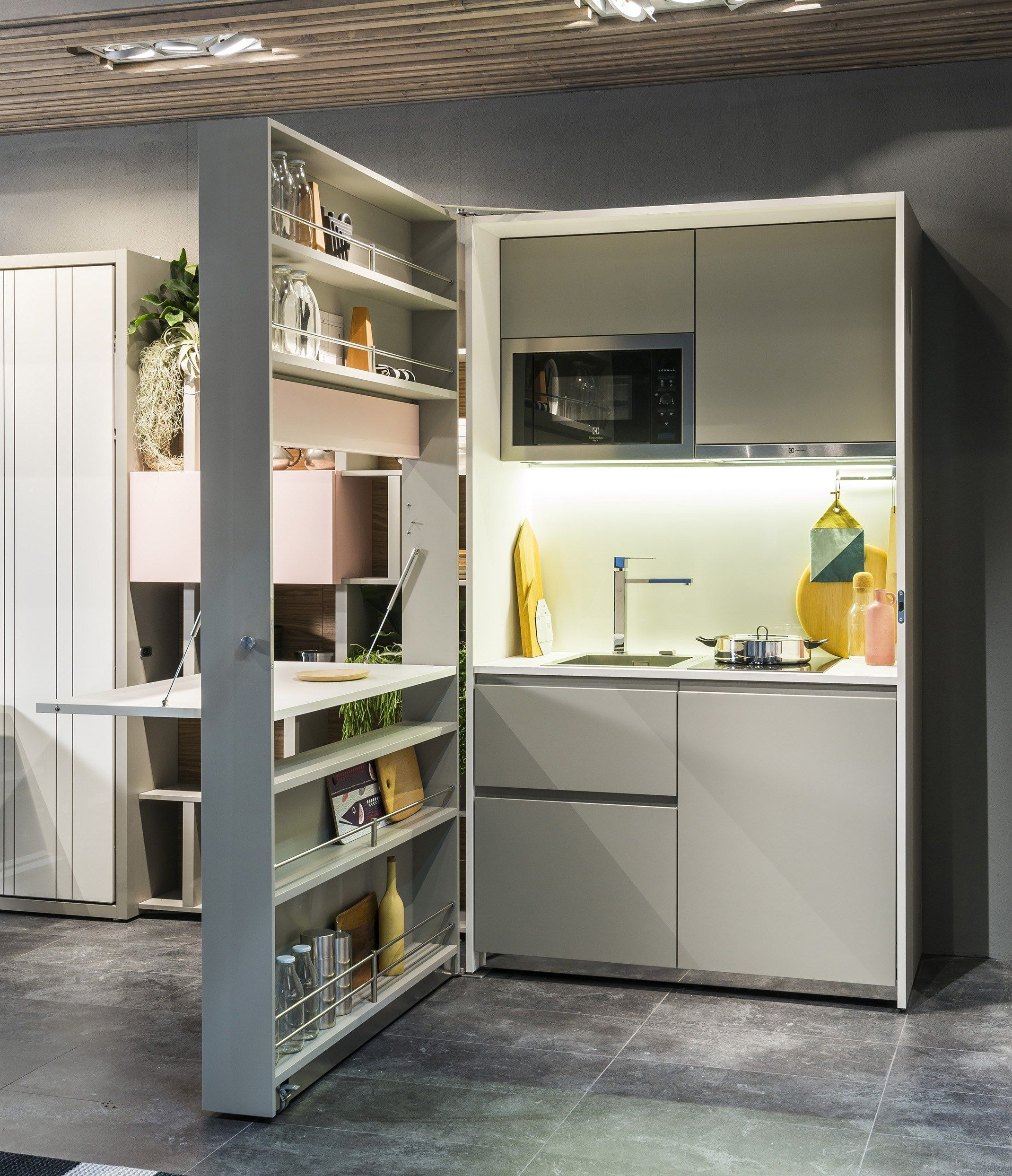 Cucina a scomparsa laccata KITCHEN BOX by CLEI | Muebles ...