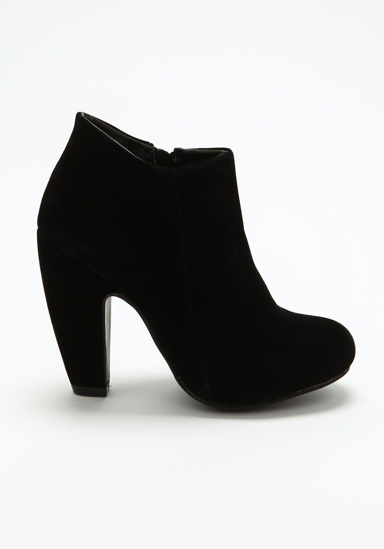 Black Chunky Heel Booties from Love Culture | .: booties ...