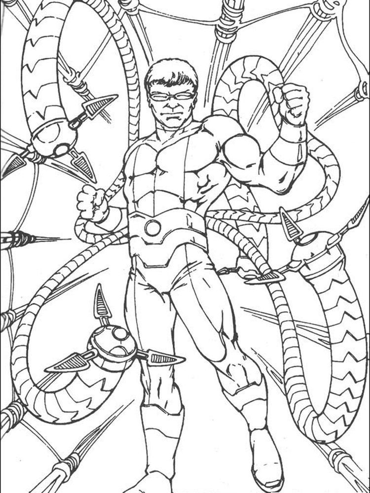 Blue Spiderman Coloring Pages Following This Is Our Collection Of Spiderman Coloring Page You Are Fre Spiderman Coloring Octopus Coloring Page Coloring Pages