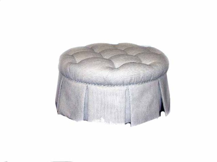 HF 460   Round Skirted Otto Uphols   Hallman Furniture