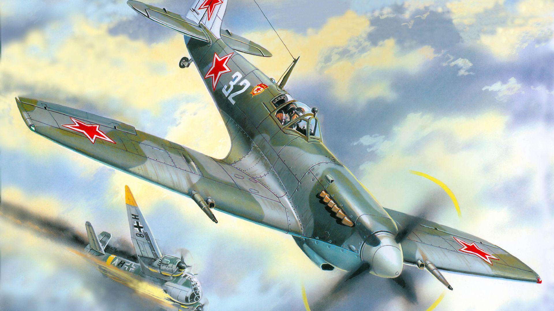 Обои война, сражение, сбитый юнкерс, рисунок. Авиация foto 15