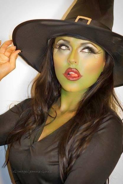 flirty witch makeup halloween