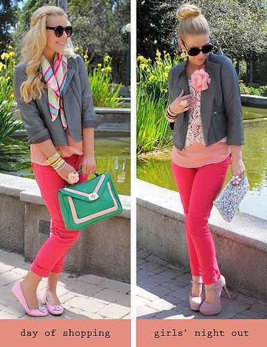 So cute. So pink. | Scarf style