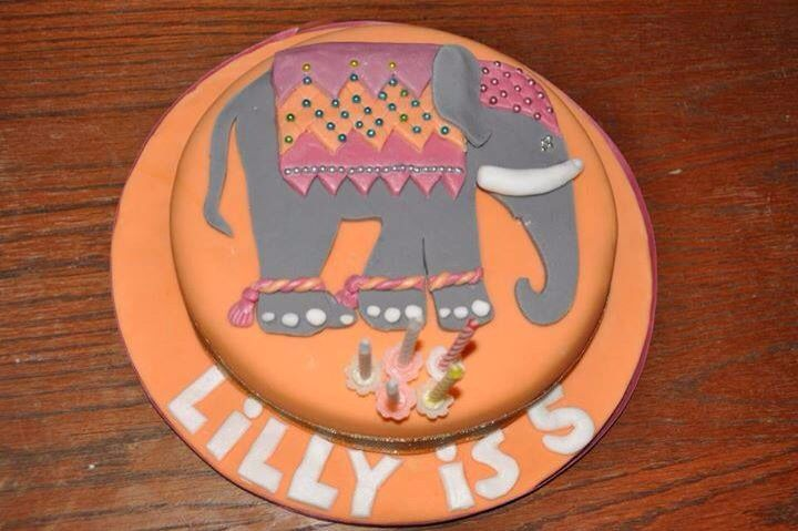 Beautiful elephant cake.  Straightforward when the elephant template designed.