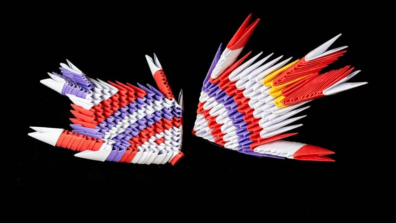 Diy origami fish 3d origami and origami for Origami koi fish tutorial