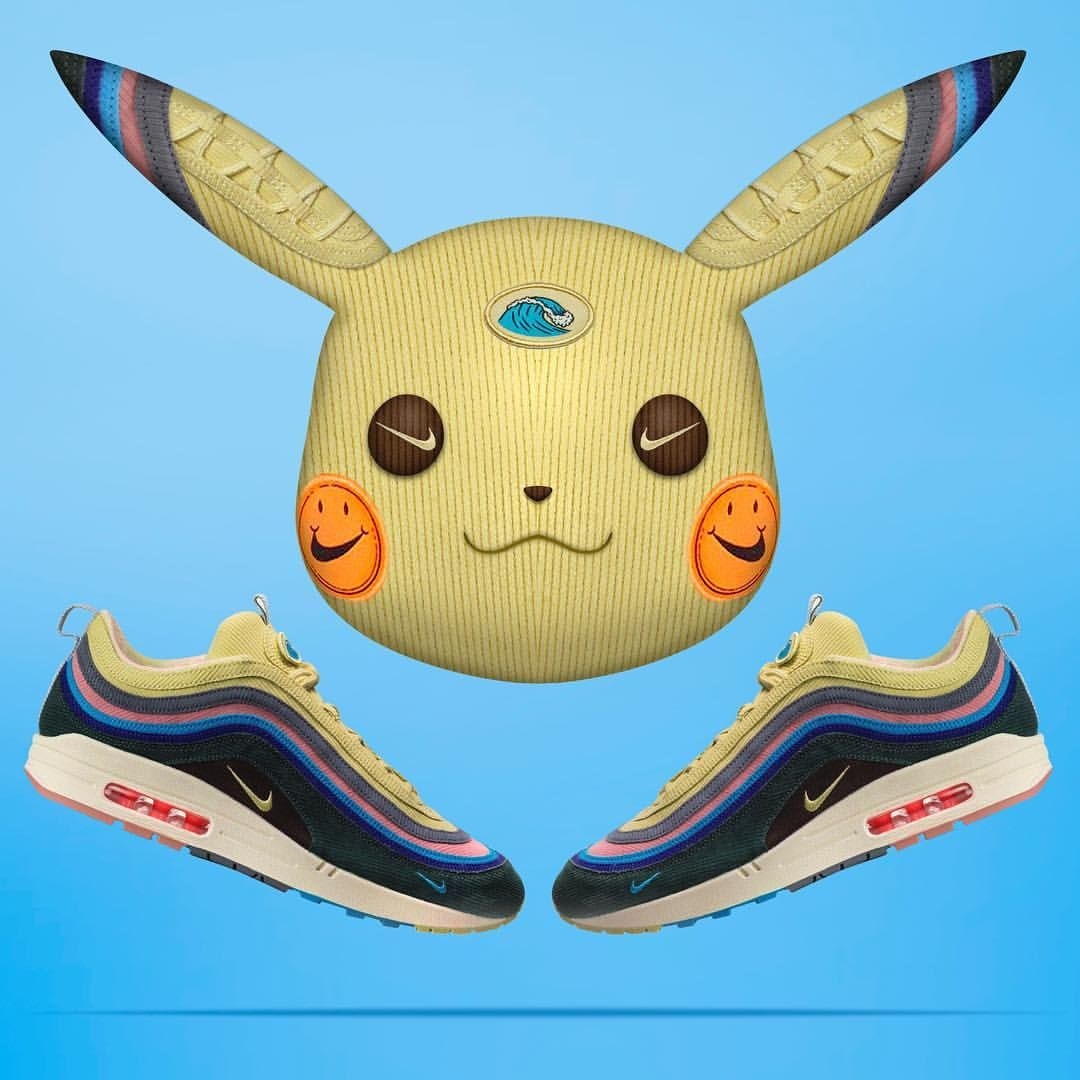 1e330a62693bcc Pikachu Air Max 1 97  sean wotherspoon  pokemon 🔥🌊 Air Max Sneakers