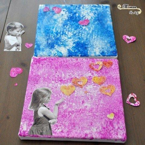 activit manuelle enfant cadre toile peinture collage cadre pour maitresse f te des m res. Black Bedroom Furniture Sets. Home Design Ideas