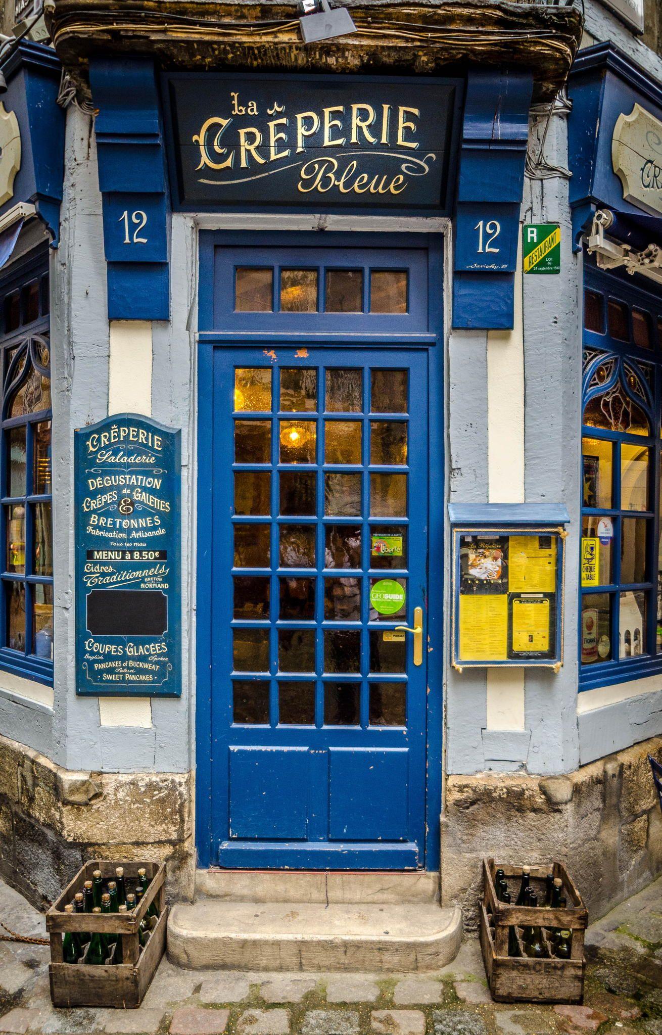La Creperie Bleue in Rouen, Haute-Normandie, France by Richard Depinay