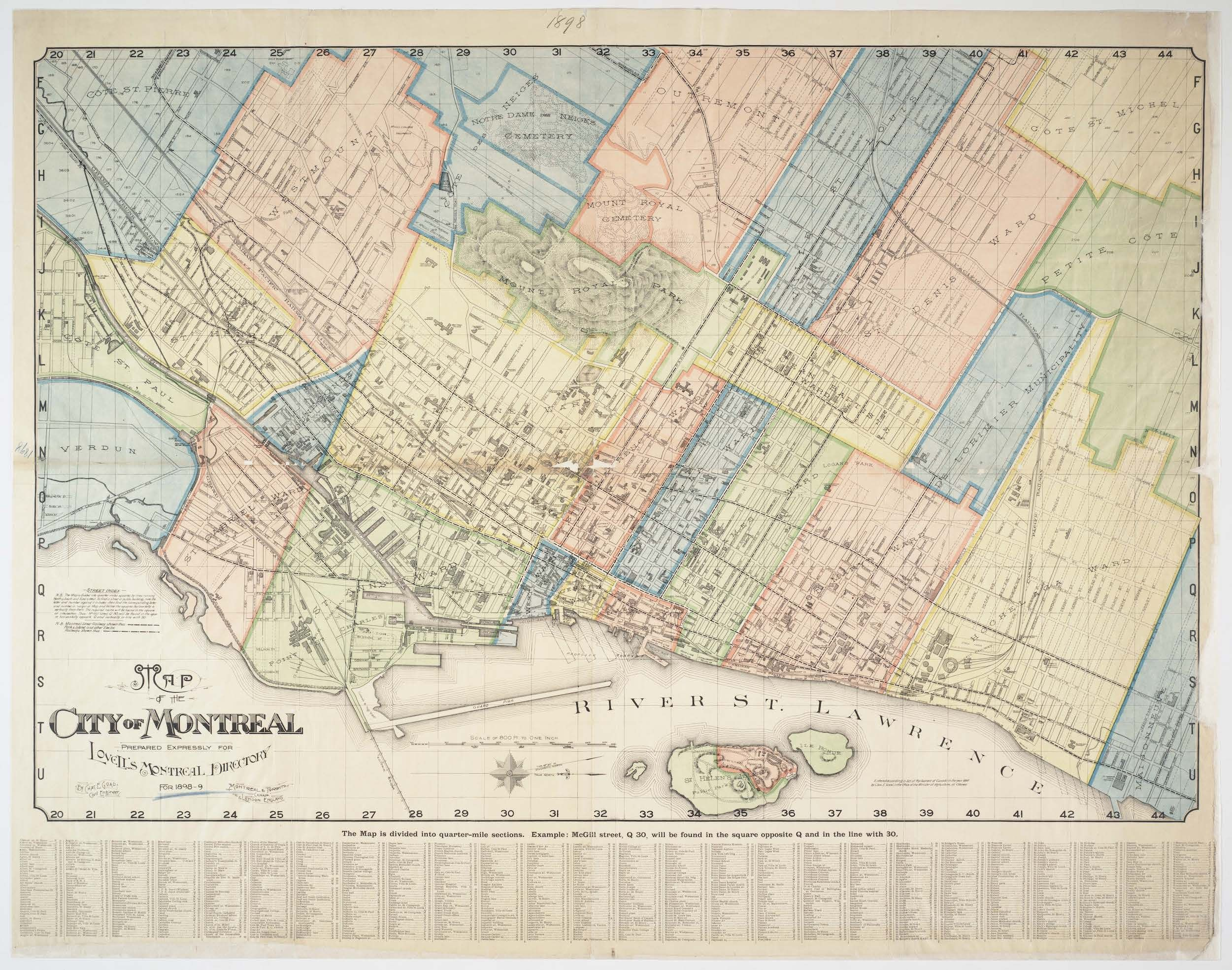 Map of the city of Montreal : prepared expressly for Lovell\'s ...