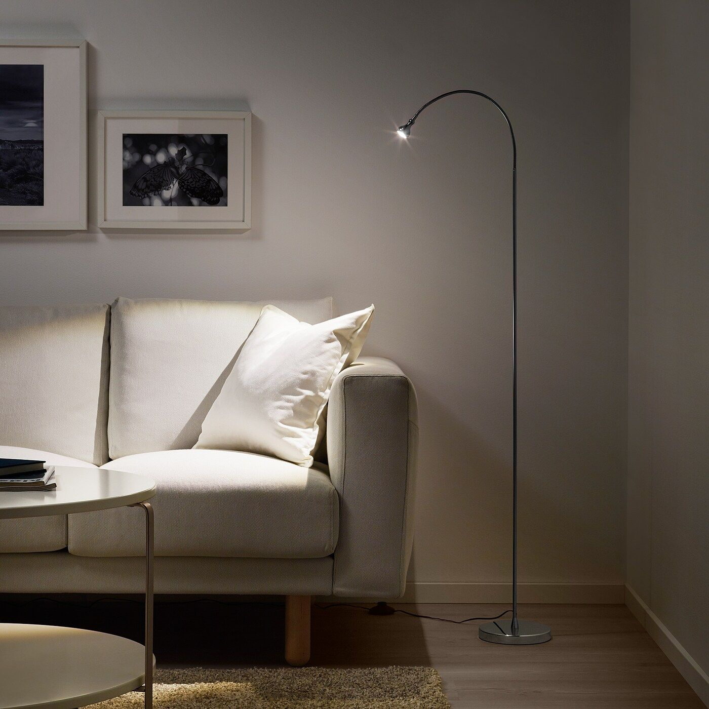 JANSJÖ Stand Leseleuchte, LED silberfarben IKEA