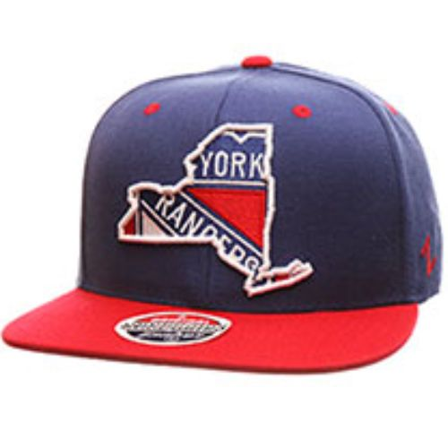 40bcaf8f73bc88 New York Rangers Zephyr Statement Flat Bill Snapback Hat NHL Cap New Blue  #Zephyr #NewYorkRangers