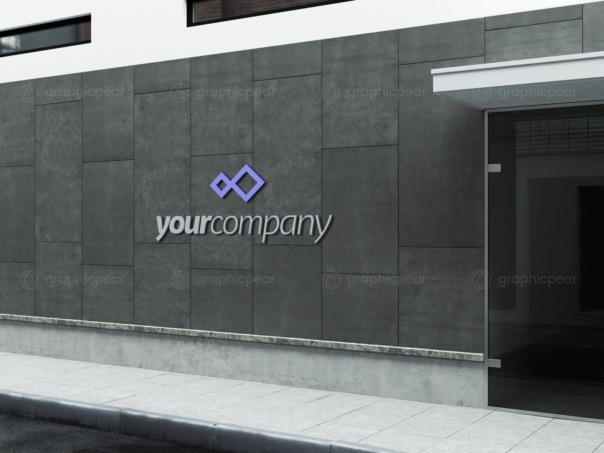 Company Building Sign Mockup In 2021 Sign Mockup Building Signs Mockup