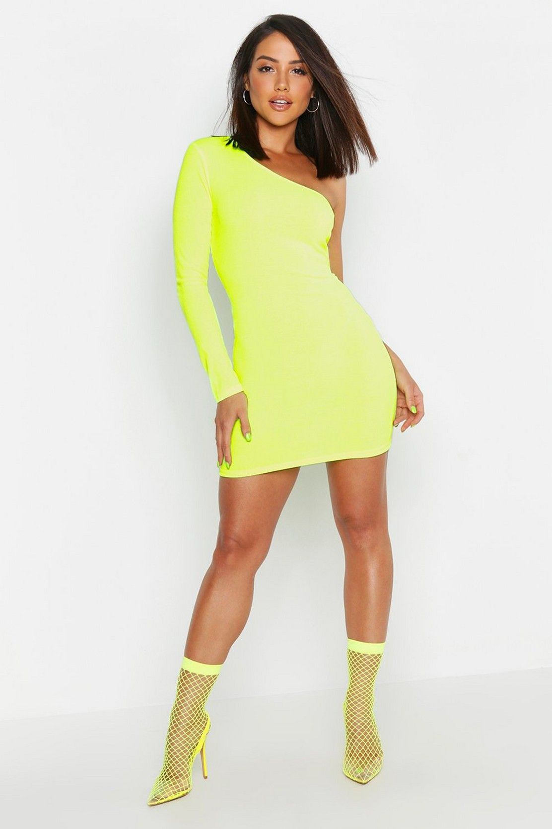 5f1be5260d Neon Rib One Shoulder Bodycon dress in 2019 | TREND REPORT FEB 2019 ...