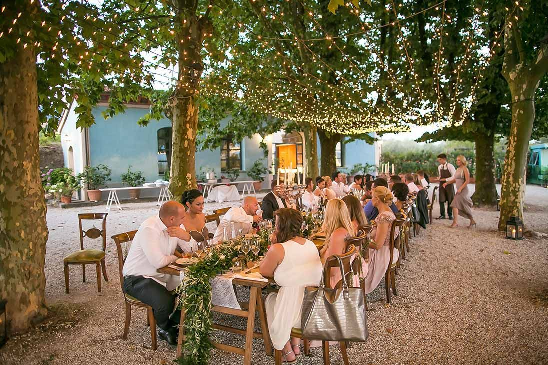 Villa reception in Tuscany