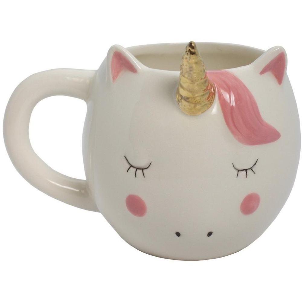 streamline magical unicorn coffee mug,white
